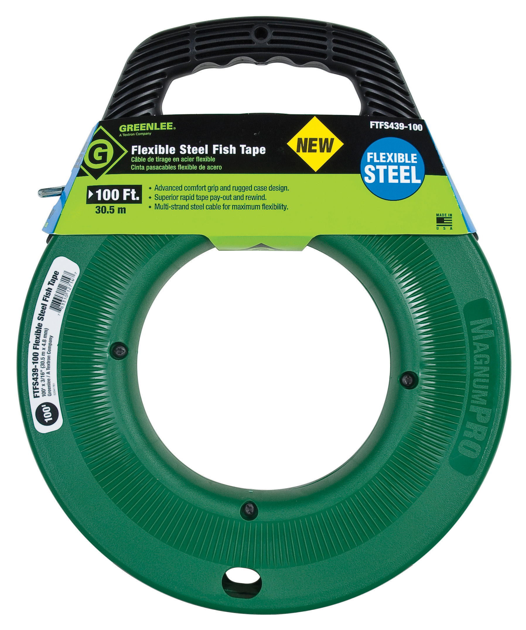 Electrical tools accessories fish tapes greenlee for Greenlee fish tape
