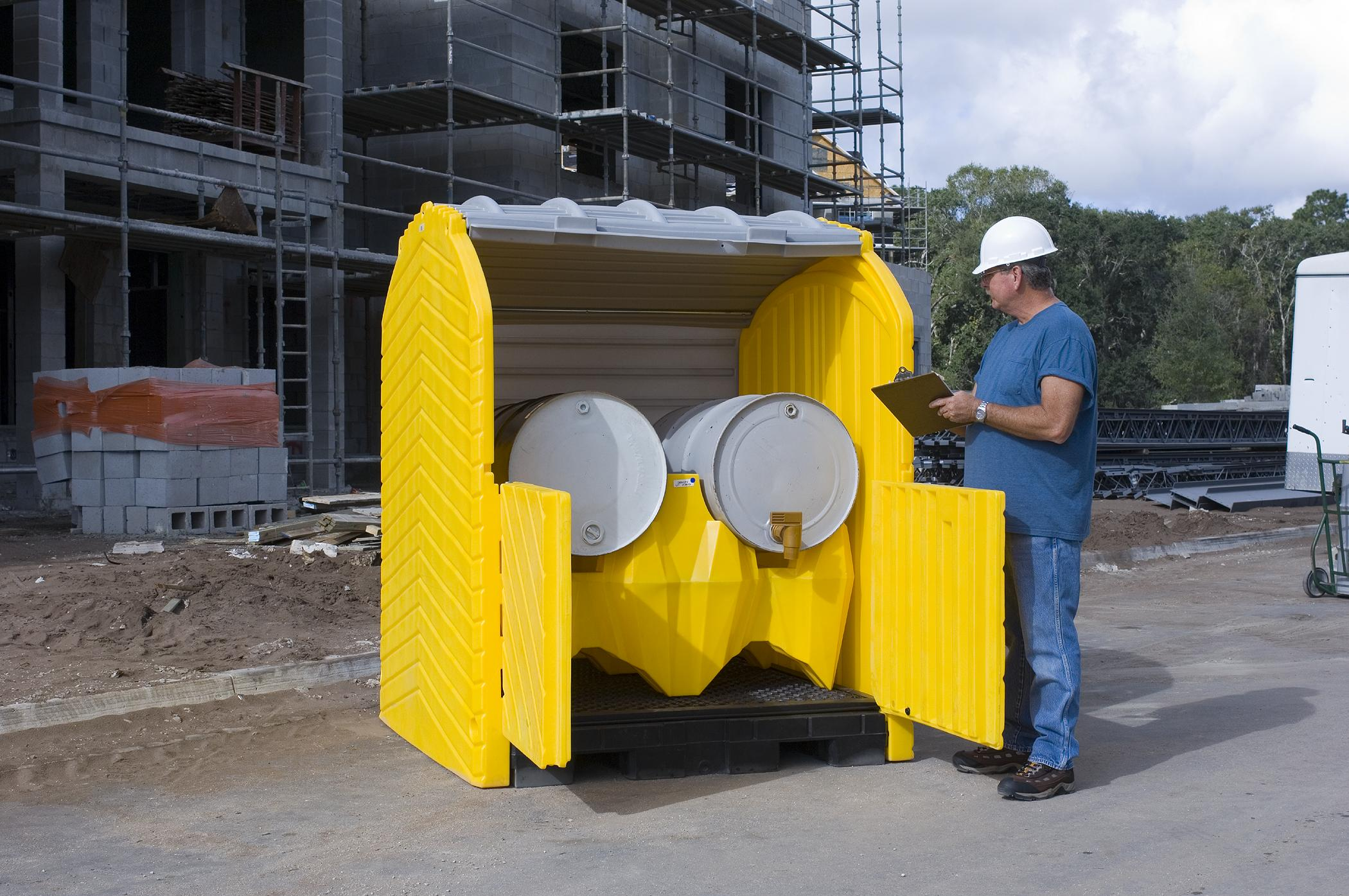 Jobsite Protection Chemical Storage Drum Storage Container