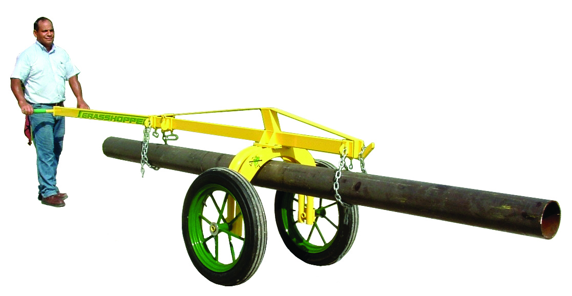 Rinker Materials Concrete Pipe Handling : Mechanical plumbing pipe dollies lifts the